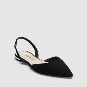 NWT Zara Flat Slingback Shoes